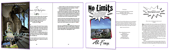 No Limits and Sanctuary Typesetting