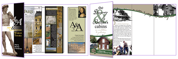 A!Tours and Federal Way brochures