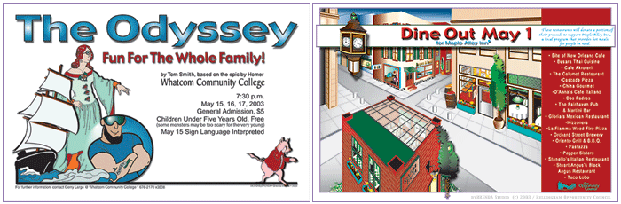 Odyssey and Dine Out Posters