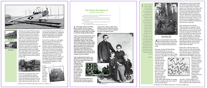 Roy Wilbee memoir layout