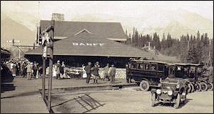 Banff Train Depot 1930s