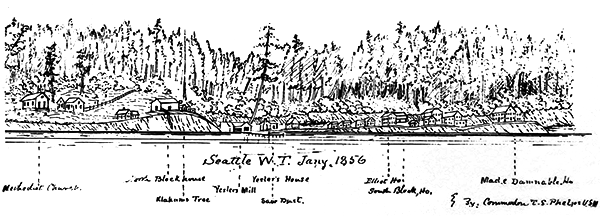 Seattle Shoreline 1856 sketch