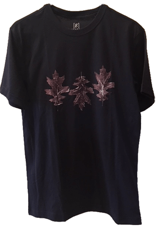 T-Shirt Leaf Printing: Front
