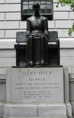 Statue of Mary Dyer, Boston Commons